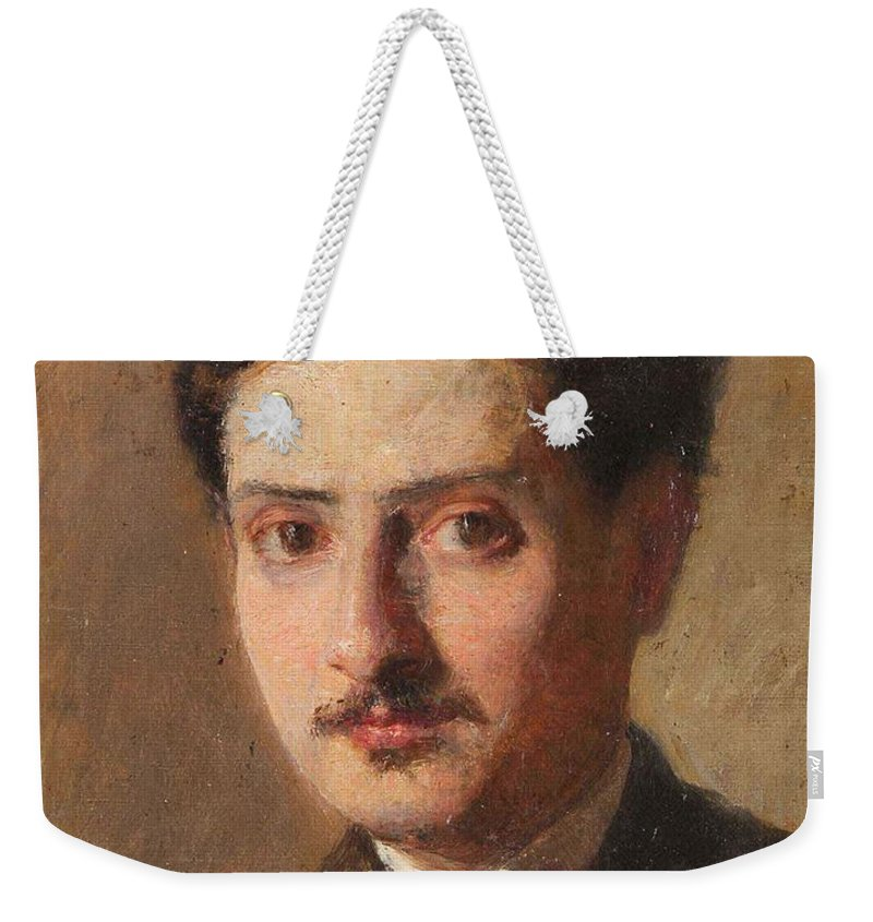 Giuseppe Boschetto 1841 - 1918 Self-portrait Weekender Tote Bag featuring the painting Self Portrait by MotionAge Designs