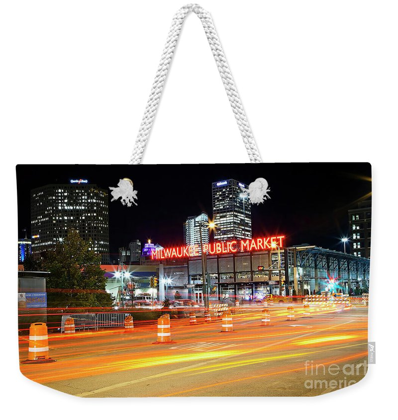 Milwaukee Weekender Tote Bag featuring the photograph 1405 Milwaukee Public Market by Steve Sturgill