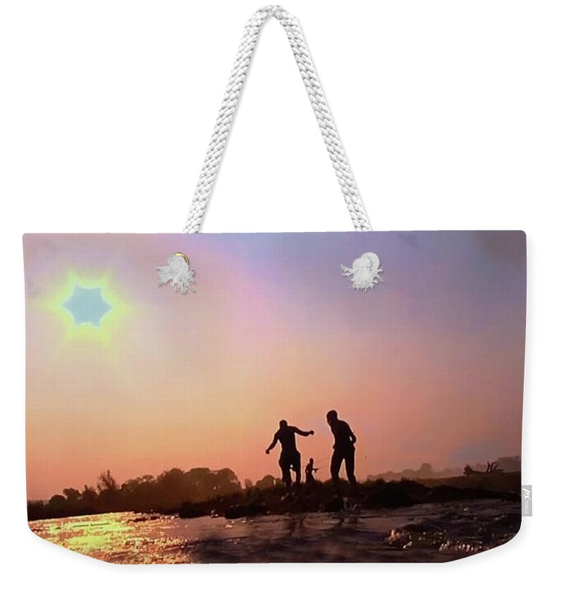 Weekender Tote Bag featuring the photograph Photograph by Miriam Marrero