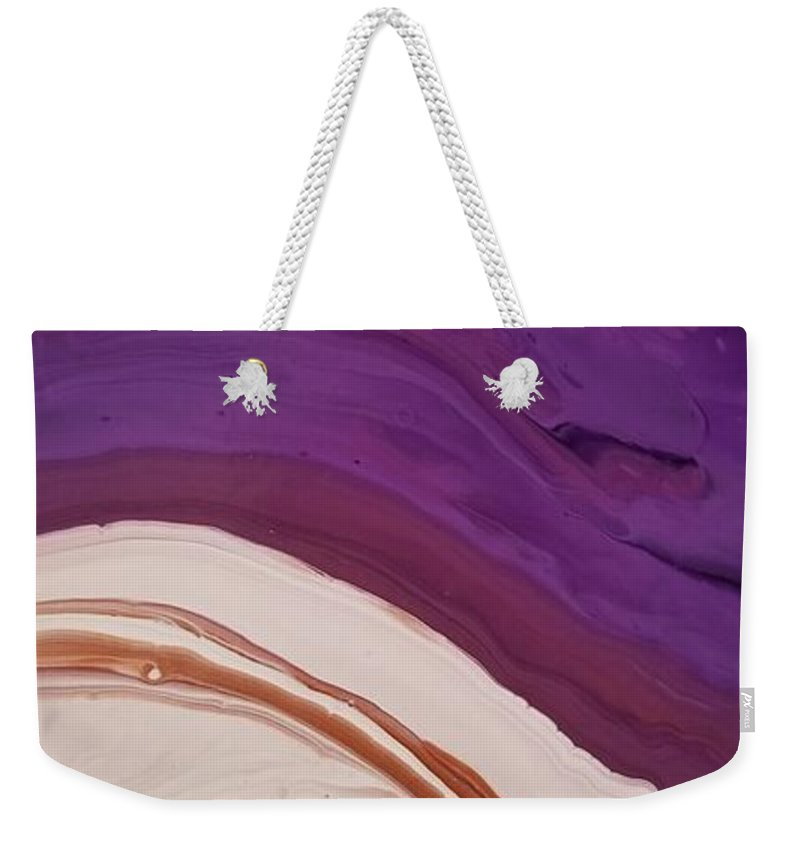 Abstract Weekender Tote Bag featuring the painting 14840 by Paulina Roybal