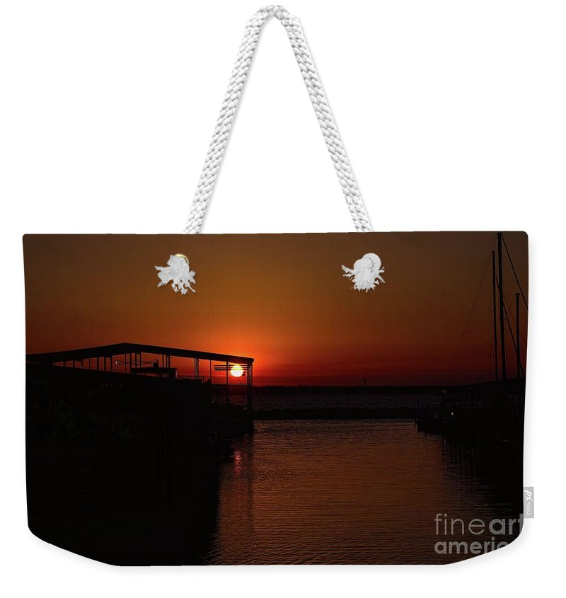 Sunrise Photography Weekender Tote Bag featuring the photograph 15 Minutes by Diana Mary Sharpton