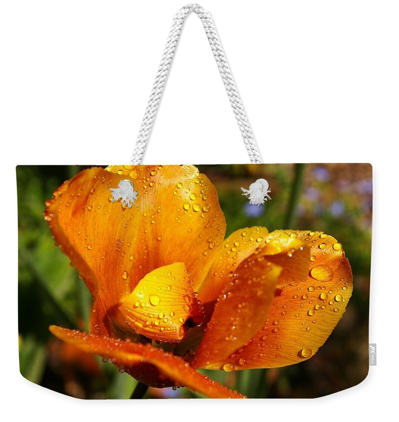 Flower Weekender Tote Bag featuring the photograph Flower by FL collection