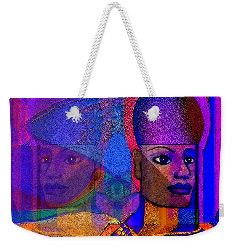 Egyptian Memories Weekender Tote Bag featuring the digital art 1532 Egyptian Memories by Irmgard Schoendorf Welch