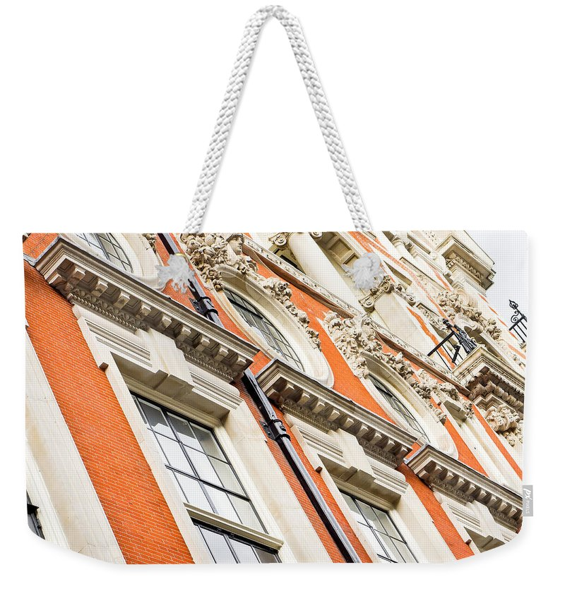 Ancient Weekender Tote Bag featuring the photograph London Building by Tom Gowanlock