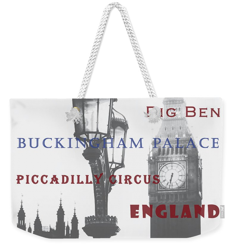 London Weekender Tote Bag featuring the photograph London by Joana Kruse