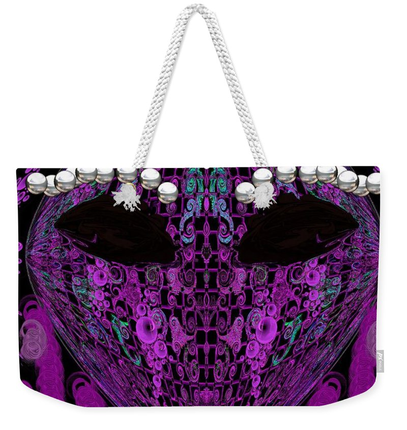 Weekender Tote Bag featuring the digital art #16 by Subbora Jackson