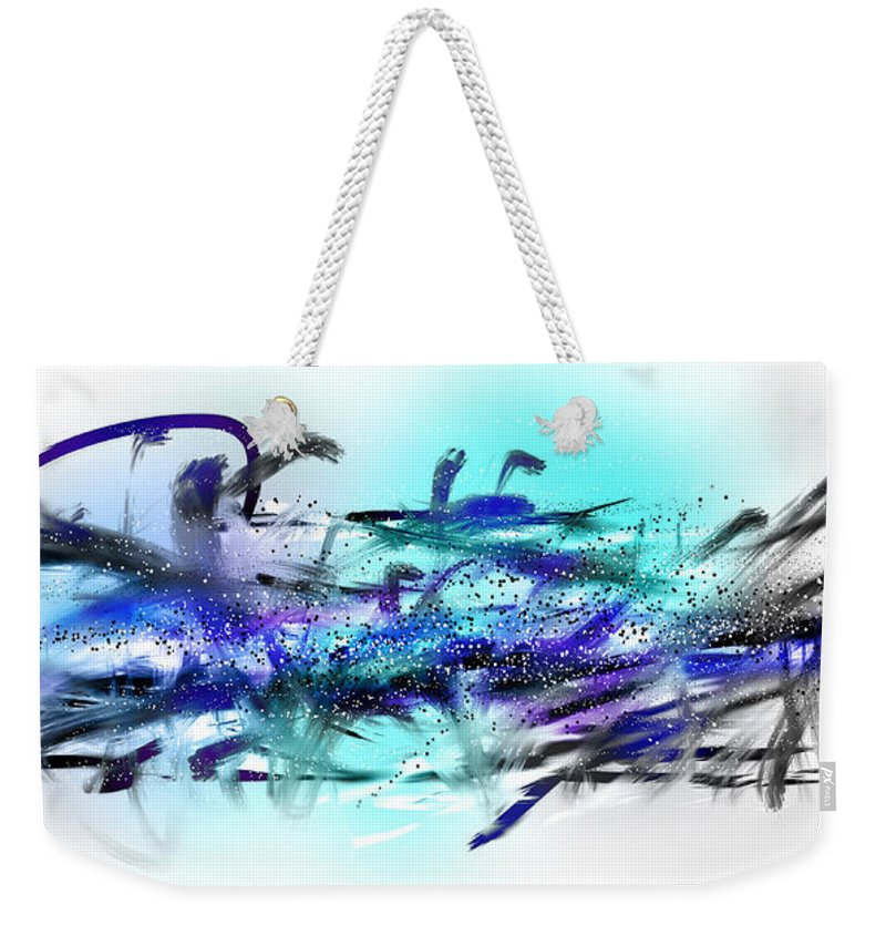 Painting Weekender Tote Bag featuring the painting 160518ba by Toshio Sugawara