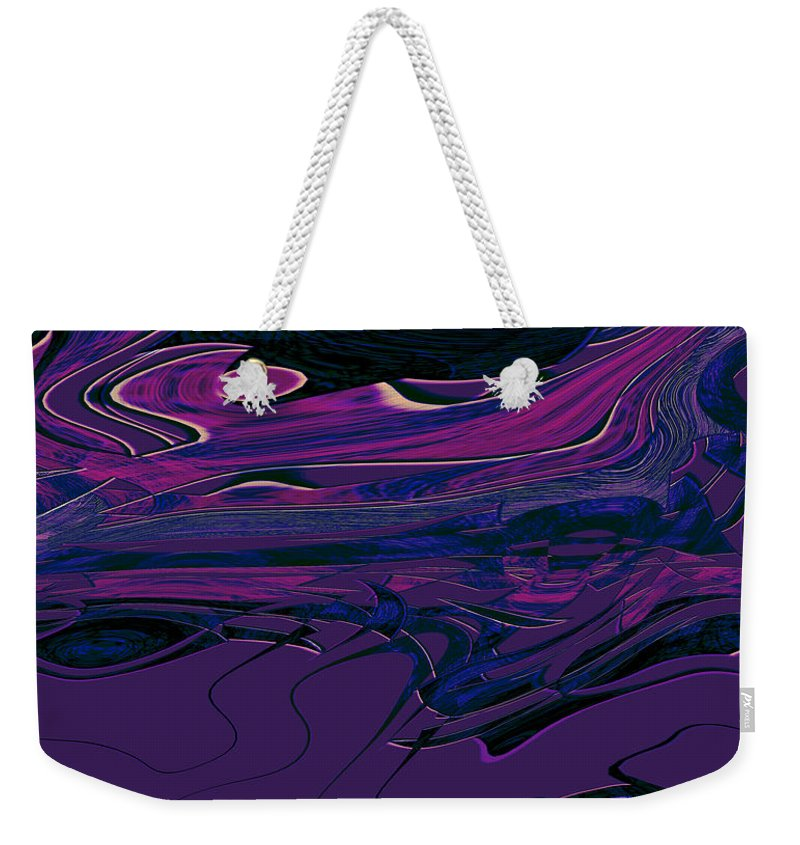 Abstract Weekender Tote Bag featuring the digital art 1673 Abstract Thought by Chowdary V Arikatla