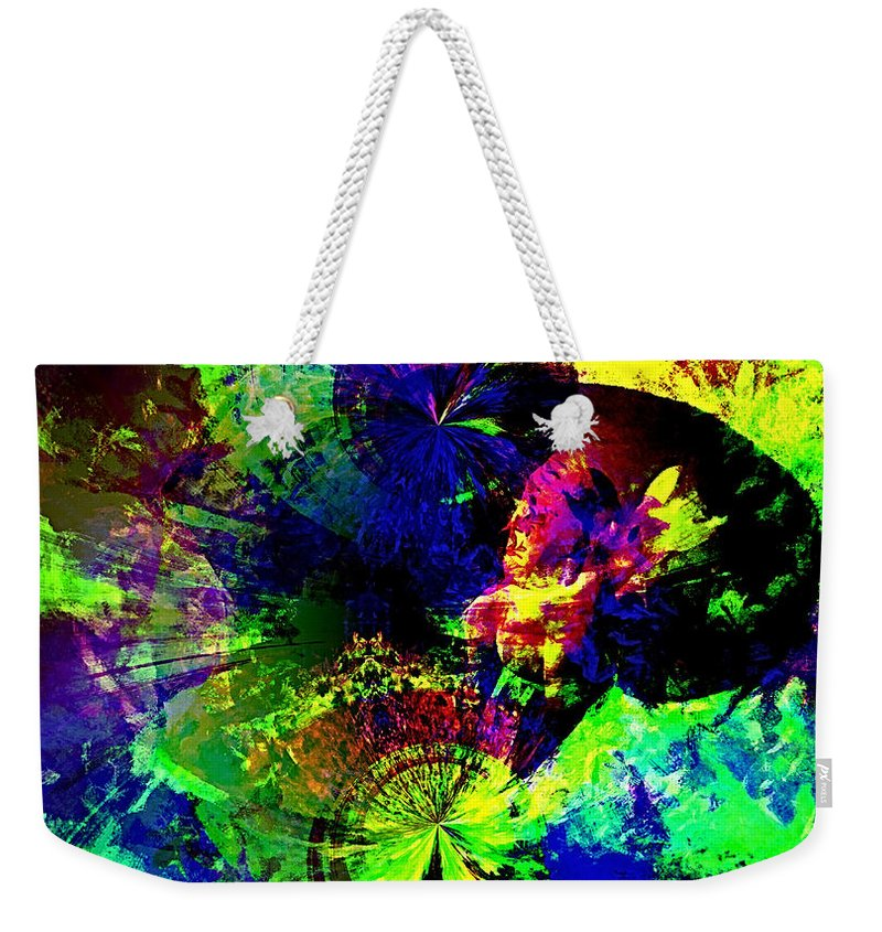 Abstract Urban Art Weekender Tote Bag featuring the digital art Abstract by Galeria Trompiz