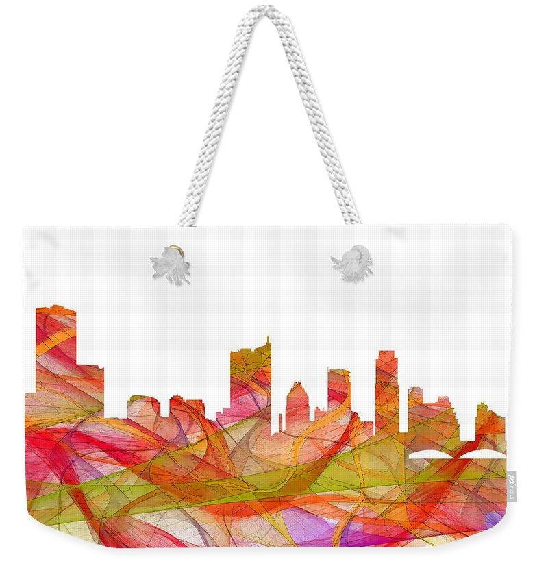 Austin Texas Skyline Weekender Tote Bag featuring the digital art Austin Texas Skyline by Marlene Watson