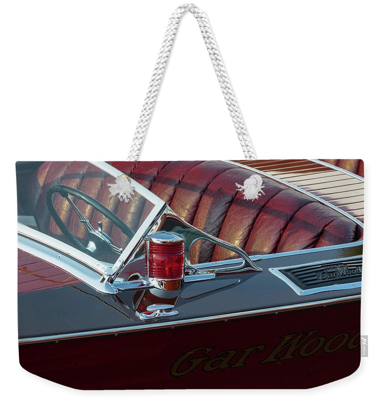 H2omark Weekender Tote Bag featuring the photograph Classic Gar Wood by Steven Lapkin