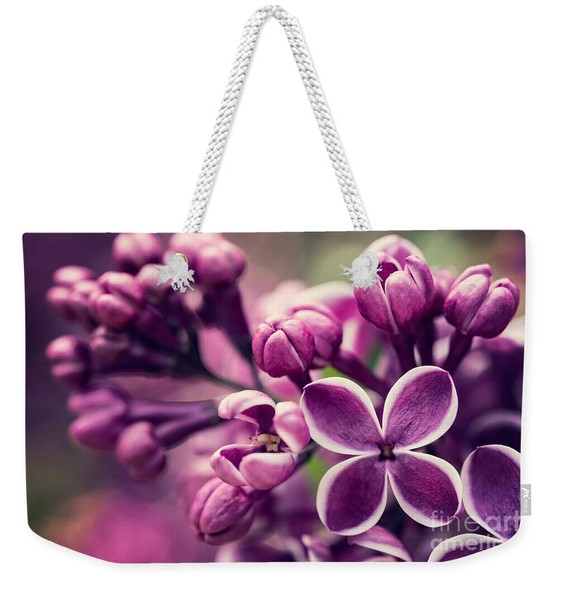 Flowers Weekender Tote Bag featuring the photograph Flowers by Mariusz Blach