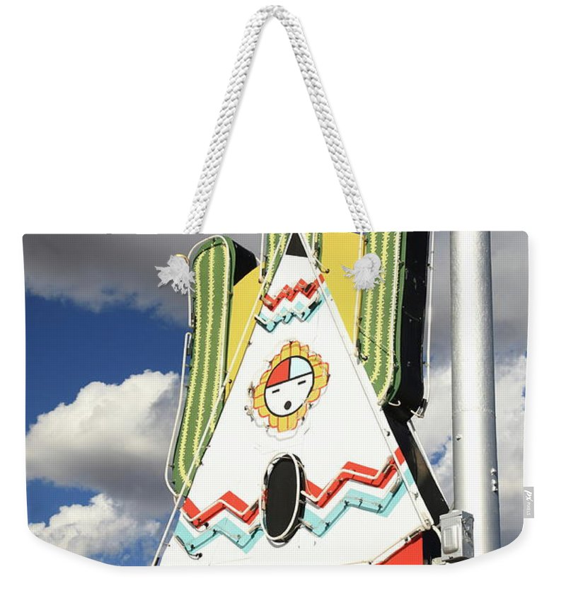 66 Weekender Tote Bag featuring the photograph Route 66 - Tucumcari New Mexico by Frank Romeo