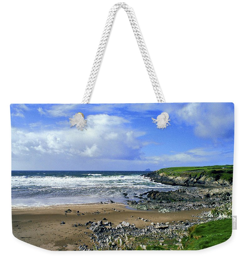 Atlantic Weekender Tote Bag featuring the photograph 174-006-ireland by David Lange