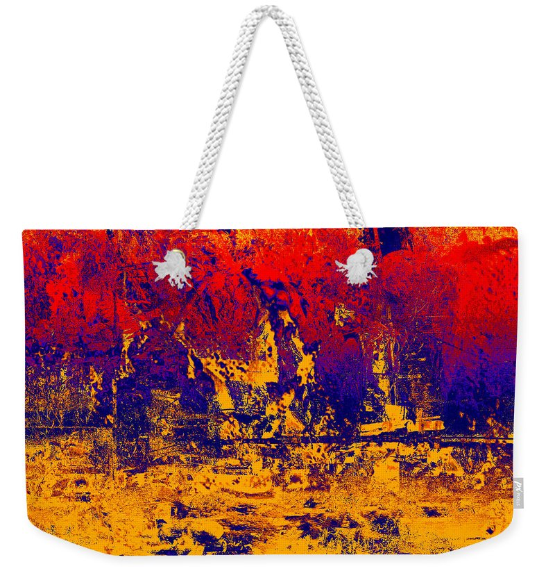 Abstract Weekender Tote Bag featuring the digital art 1745 Abstract Thought by Chowdary V Arikatla