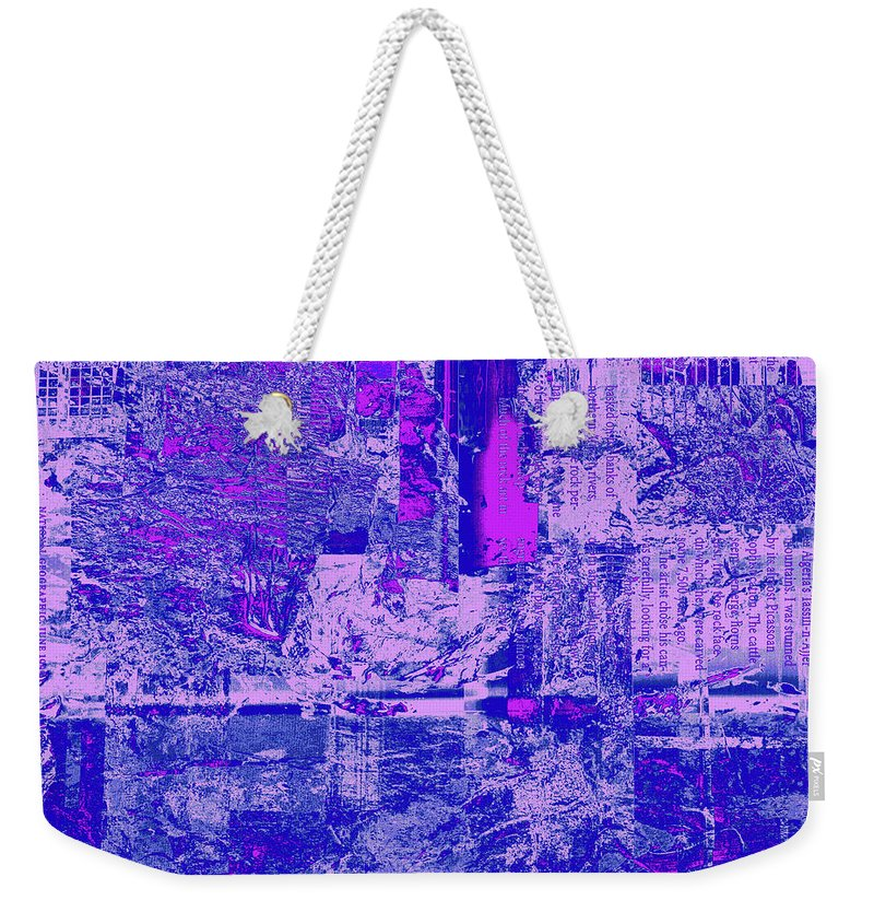 Abstract Weekender Tote Bag featuring the digital art 1848 Abstract Thought by Chowdary V Arikatla