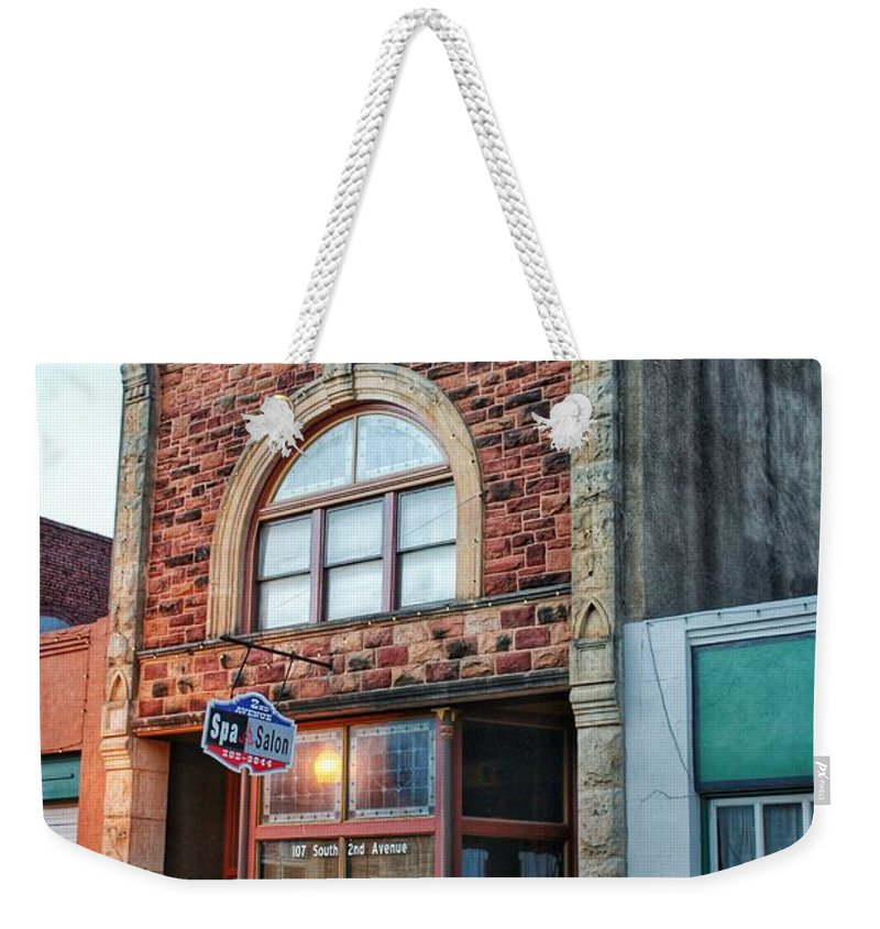 Guthrie Weekender Tote Bag featuring the photograph 1890 Building Guthrie Ok by Buck Buchanan
