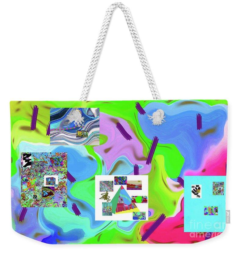 Walter Paul Bebirian Weekender Tote Bag featuring the digital art 6-19-2015dabcdefghijkl by Walter Paul Bebirian