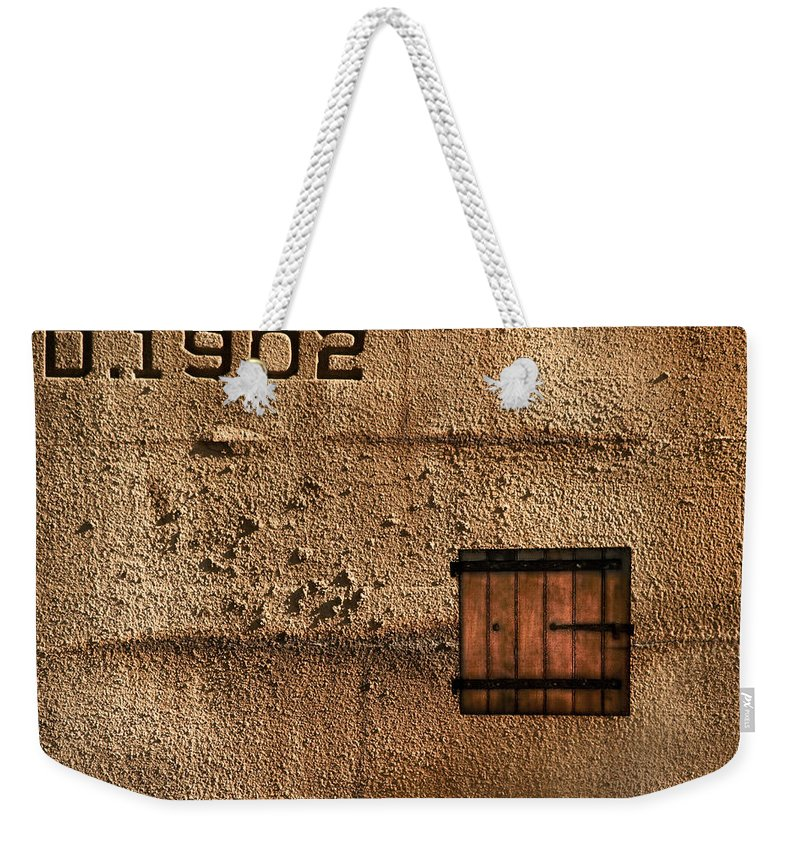 Jail Weekender Tote Bag featuring the photograph 1902 by Evelina Kremsdorf