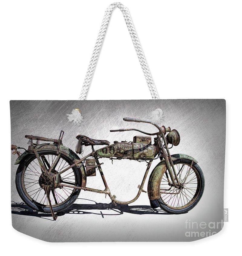 1918 Harley Davidson Motorcycle Frame Weekender Tote Bag for Sale by ...