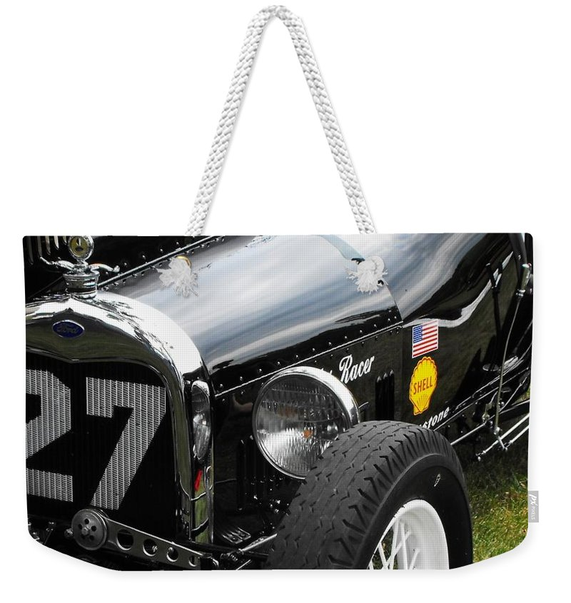 Ford Weekender Tote Bag featuring the photograph 1920-1930 Ford Racer by Neil Zimmerman