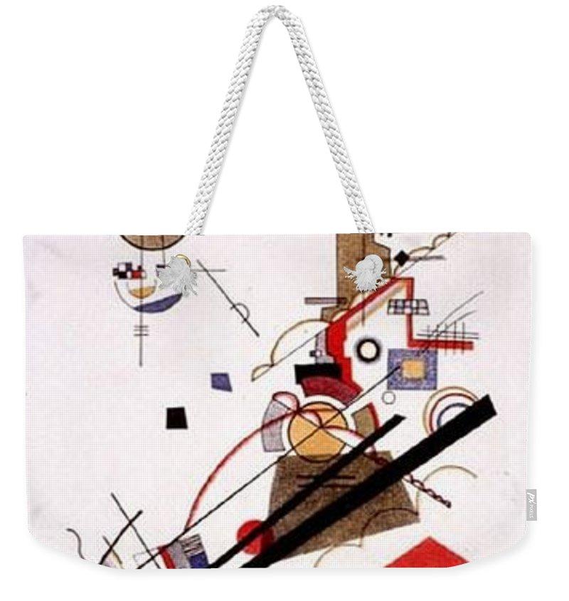 Sketch Weekender Tote Bag featuring the digital art  1925 Vasily Kandinsky by Eloisa Mannion