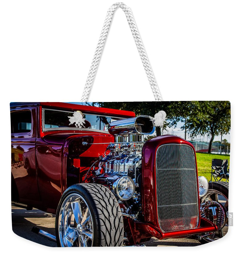 1931 Weekender Tote Bag featuring the photograph 1931 Ford Coupe 2 by Anthony Evans