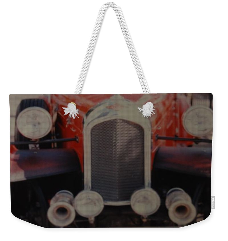 Car Weekender Tote Bag featuring the photograph 1932 by Rob Hans