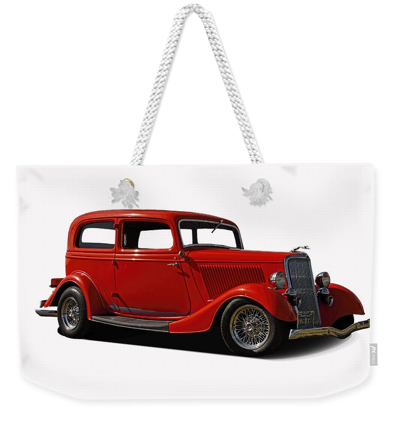 1934 Weekender Tote Bag featuring the photograph 1934 Ford 2 Door Sedan by Nick Gray