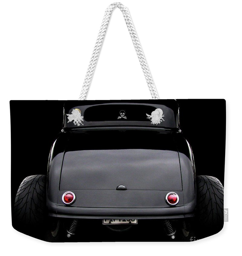 1934 Ford 3 Window Coupe Weekender Tote Bag featuring the photograph 1934 Ford 3 Window Coupe by Peter Piatt