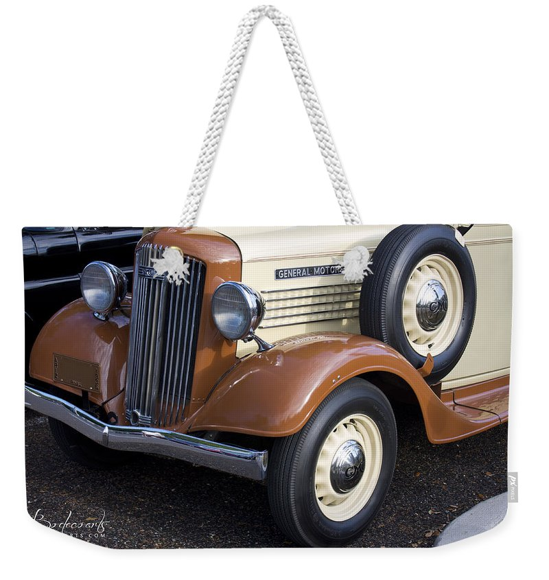 Grill Weekender Tote Bag featuring the photograph 1936 Gmc Pickup Truck 1 by Robin Lewis