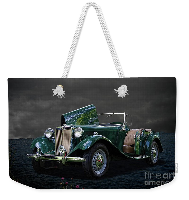 1952 Weekender Tote Bag featuring the photograph 1952 Mg Td Roadster by Nick Gray