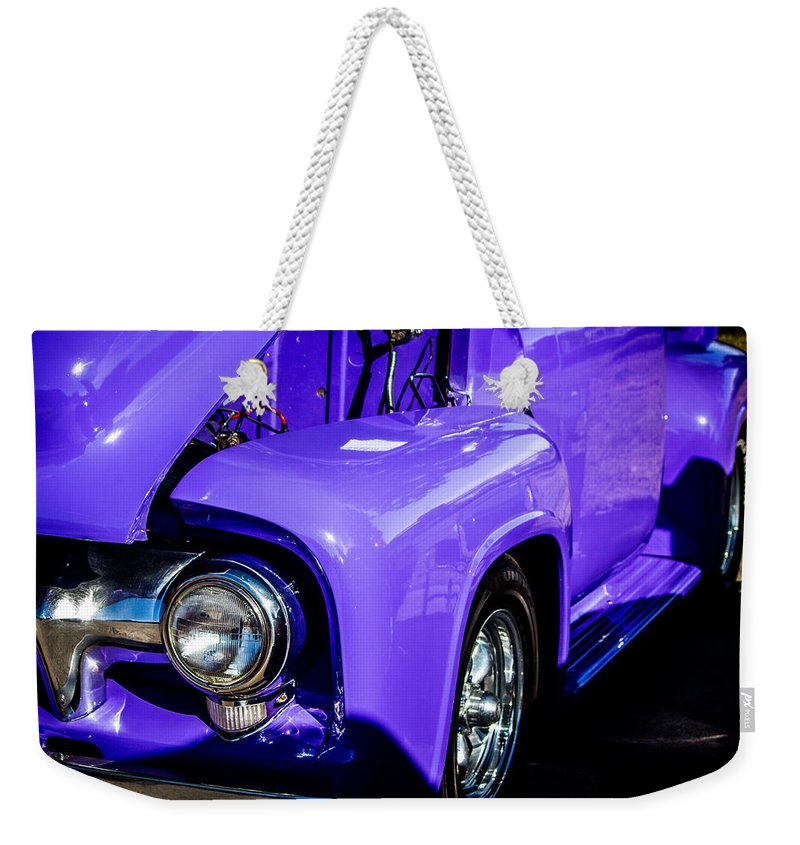 Ford Weekender Tote Bag featuring the photograph 1954 Ford F100 2 by Anthony Evans