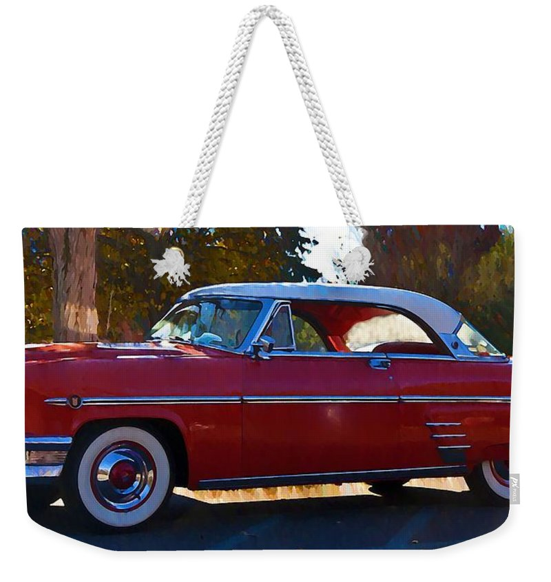 1954 Weekender Tote Bag featuring the photograph 1954 Mercury Monterey 1954 by Bill Cannon