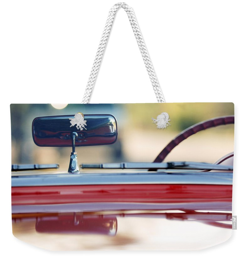 Classic Car Weekender Tote Bag featuring the photograph 1957 Chevrolet Corvette Convertible by Jill Reger