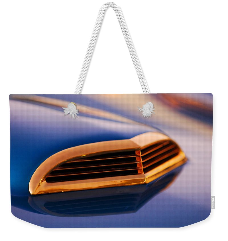 Classic Car Weekender Tote Bag featuring the photograph 1957 Ford Thunderbird Scoop by Jill Reger