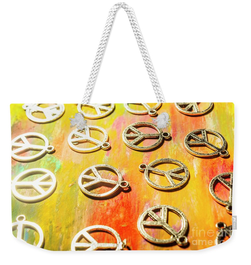 Object Weekender Tote Bag featuring the photograph 1960s Peace Movement by Jorgo Photography - Wall Art Gallery