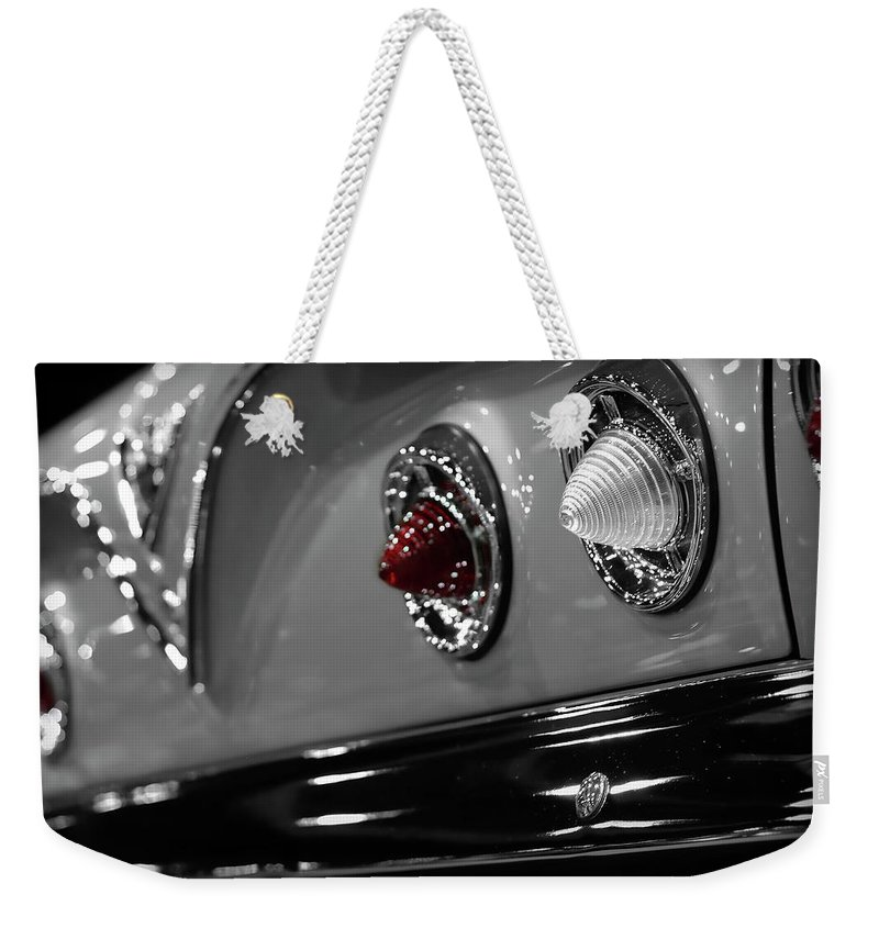 1961 Weekender Tote Bag featuring the photograph 1961 Chevrolet Impala 1961 by Gordon Dean II