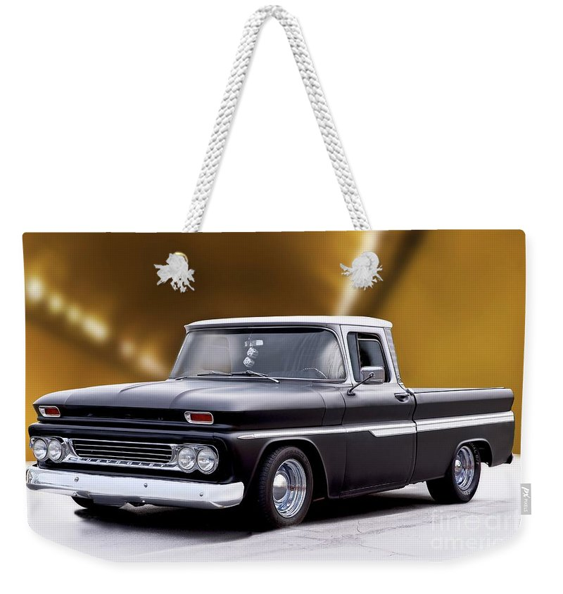 Automobile Weekender Tote Bag featuring the photograph 1962 Chevrolet Shortbed Pickup II by Dave Koontz