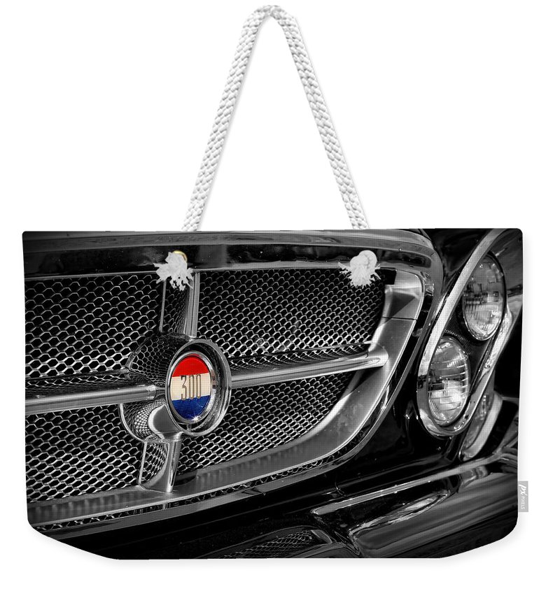 1961 Weekender Tote Bag featuring the photograph 1962 Chrysler 300h by Gordon Dean II