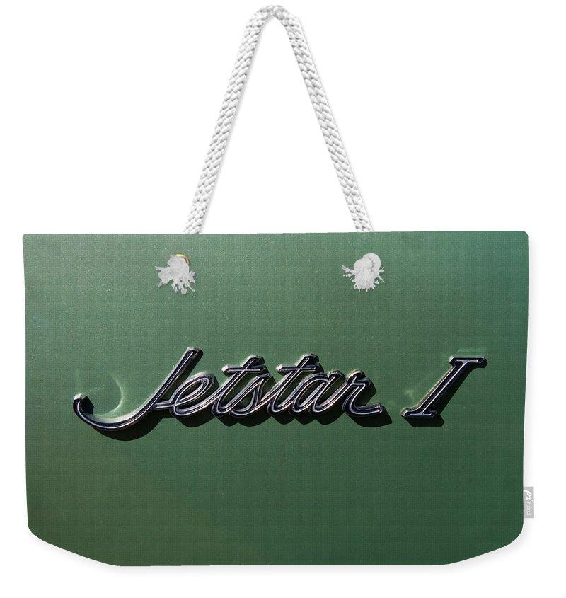 1964 Oldsmobile Jetstar Emblem Weekender Tote Bag