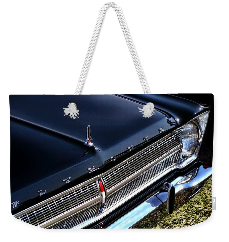 1965. Plymouth Weekender Tote Bag featuring the photograph 1965 Plymouth Satellite 440 by Gordon Dean II