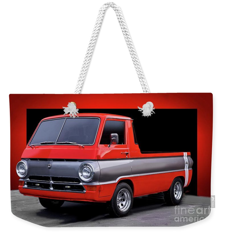 Automobile Weekender Tote Bag featuring the photograph 1966 Dodge A100 Pickup by Dave Koontz
