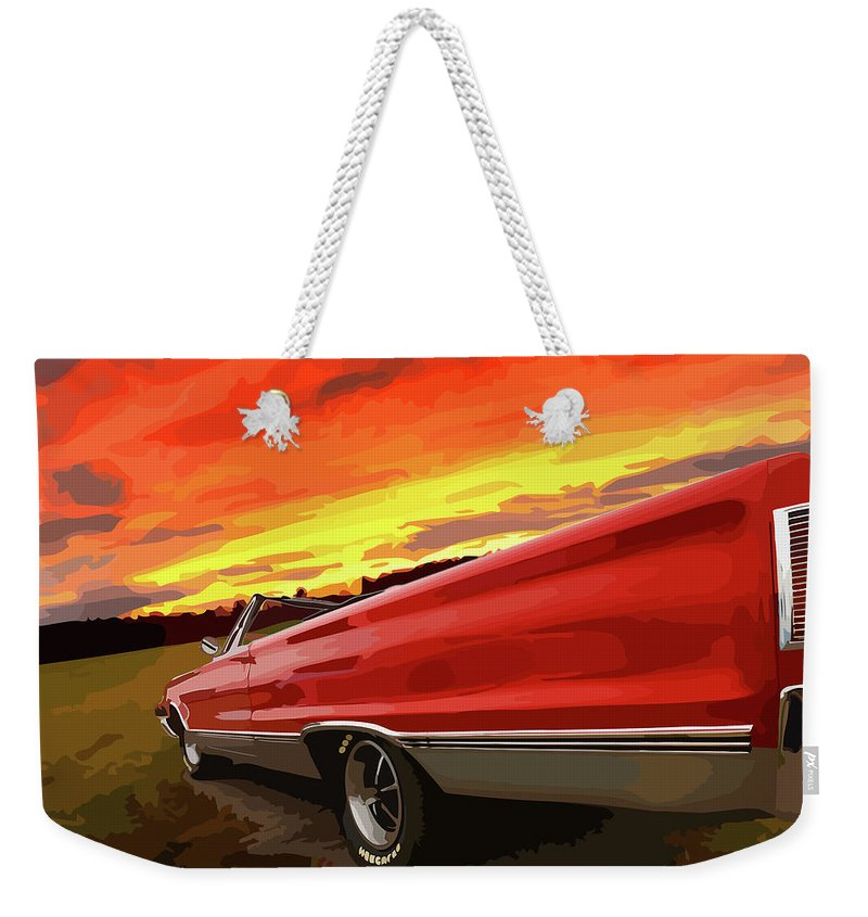 426 Weekender Tote Bag featuring the photograph 1967 Plymouth Satellite Convertible by Gordon Dean II