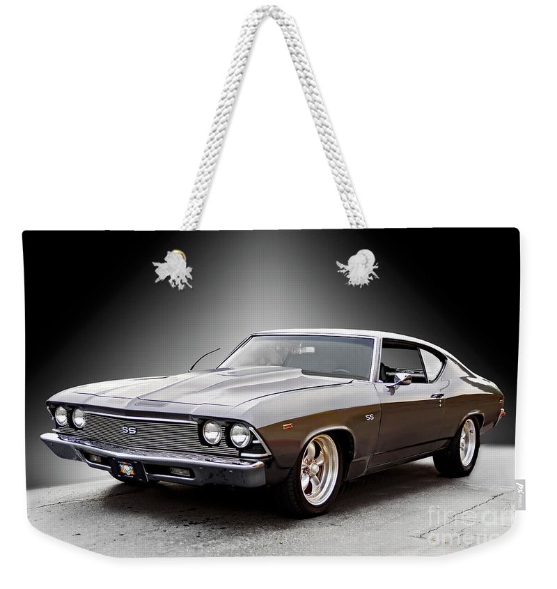 Automobile Weekender Tote Bag featuring the photograph 1968 Chevelle Super Sport Ll by Dave Koontz