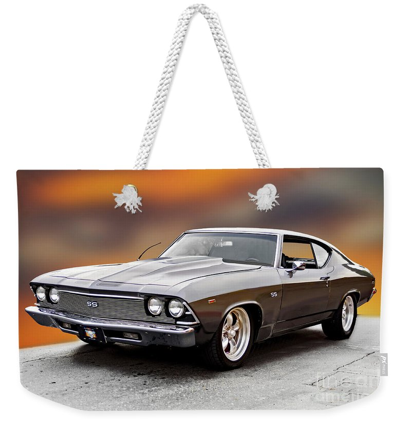 Automobile Weekender Tote Bag featuring the photograph 1968 Chevrolet Chevelle Ss L by Dave Koontz