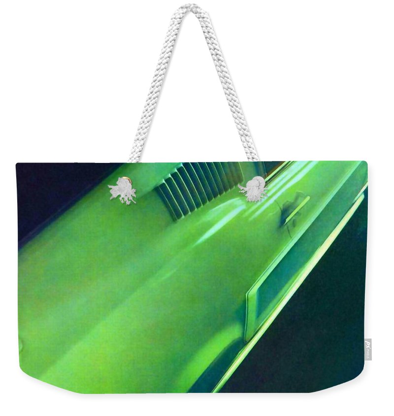 1968 Ford Mustang Weekender Tote Bag featuring the painting 1968 Ford Mustang by R Muirhead Art