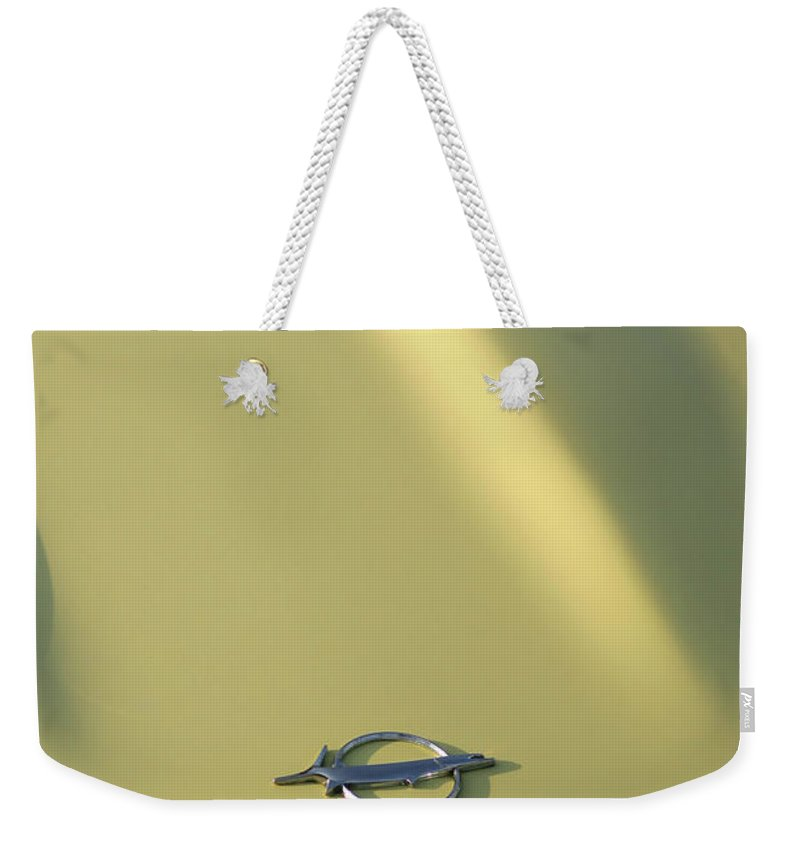 1968 Weekender Tote Bag featuring the photograph 1968 Plymouth Barracuda by Gordon Dean II
