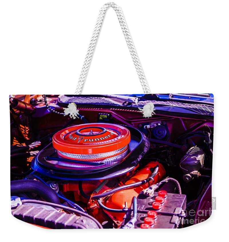 Muscle Cars Weekender Tote Bag featuring the photograph 1970 Plymouth Road Runner by Jasmin Hrnjic
