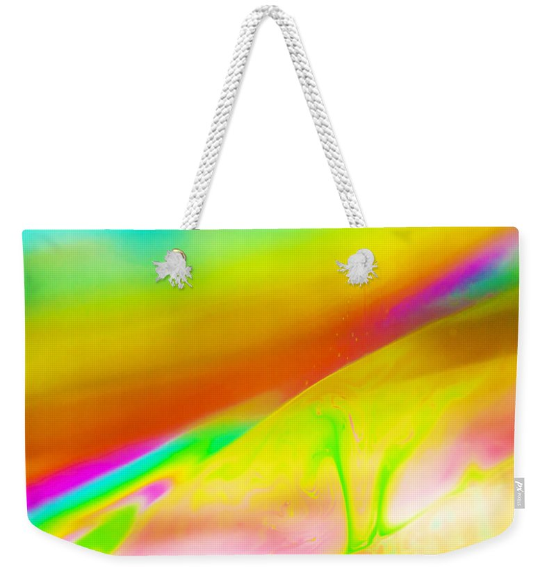 Abstract Weekender Tote Bag featuring the photograph Abstract Colours. by Paul Cullen
